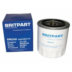 LAND ROVER V8 / 2.5D / 2.5TD 200 & 300TDI OIL FILTER BRITPART PART ERR3340