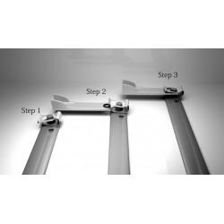 Buy Windscreen wiper motor linkage link repair clip kit x2 nickel