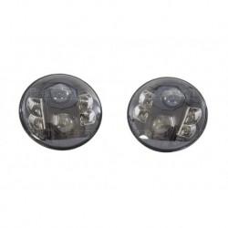 """7"""" RHD Black Headlamp Kit Part BA070LEDB"""