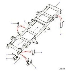 Defender Discovery 2 TD5 Chassis Part KVD100460