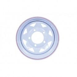 15'' x 8 White 8 Spoke Steel Wheel Part BA014B