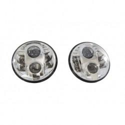 """7"""" LHD Chrome Headlamp Kit Part BA070LEDL"""