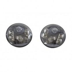 "7"" LHD Black Headlamp Kit Part BA070LEDLB"