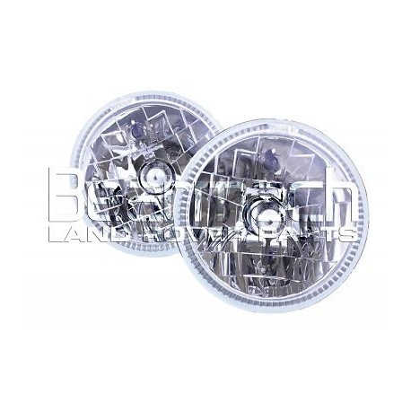 "Buy Land Rover Defender/SERIES 2, 3 /Range Rover Classic LED Halo light set (pair) crystal H4 7"" BA070HC"