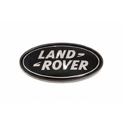 Buy Land Rover logo rear body oval badge black on silver genuine part DAH500330