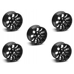 Buy Set of Five (5) - 16'' Black Sawtooth Alloy Wheel Part LR025862