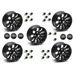 Buy Set of Five (5) - 16'' Black Sawtooth Alloy Wheel Part LR025862 With Lugs & Caps
