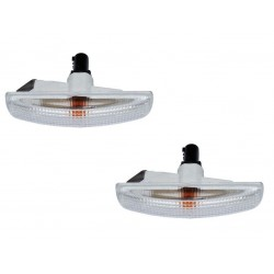 Buy Land Rover Discovery 2,3,4 / Freelender / Range Rover Sport / Supercharger lamp side repeater clear set with amber bulbs
