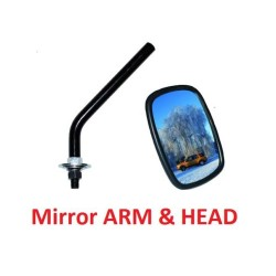 LAND ROVER SERIES 1 / 2 / 2A / 3 Wing Mirror Arm & Mirror Head DA2128 & DA2130