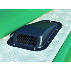 Buy Land Rover Defender 90/110/130 raised wing top air intake grill black metal right DA4001