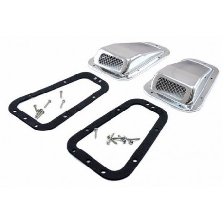 Buy Land Rover Defender stainless steel wing top air intake grill pair left & right