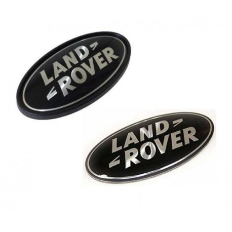 Buy Land Rover oval badges black on silver genuine parts DAG500160 and DAH500330