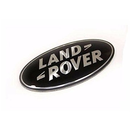 Buy Land Rover / Range Rover P38/Discovery1,2,3/Freelander grille badge black on silver - genuine DAG500160