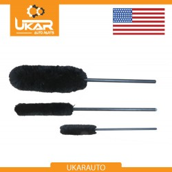 Luxury 3 pcs set Alloy Woolies Cleaning Brush - Suitable For All Alloys / Wheels