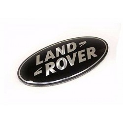 Buy Land Rover / Range Rover superchardged oval badges black on silver genuine parts