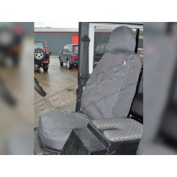 Buy LAND ROVER DEFENDER 90/110 2007-ON FRONT SEATS WATERPROOF SEAT COVERS SET GREY