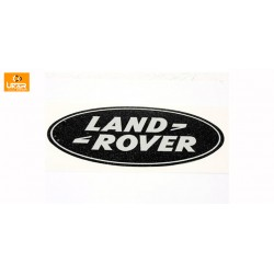Land Rover Defender 90/110 Silver on Black Background Rear Decal Genuine MXC640