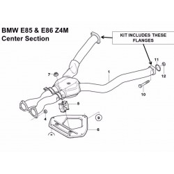 Buy BMW E46 / M3 & Z4M exhaust flange repair kit - rusted, corroded, broken 4 flanges