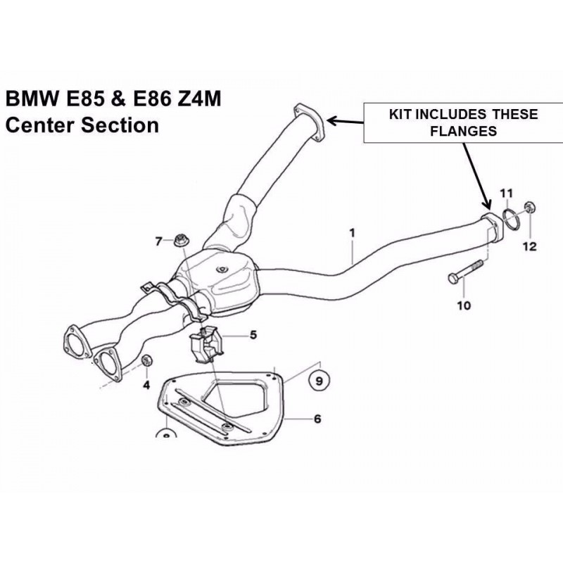 Buy Bmw E46 M3 Amp Z4m Exhaust Flange Repair Kit Rusted