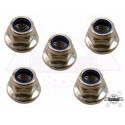 Set of 5 Range Rover Classic / Discovery / Defender/Freelender nut flanged part FY110046