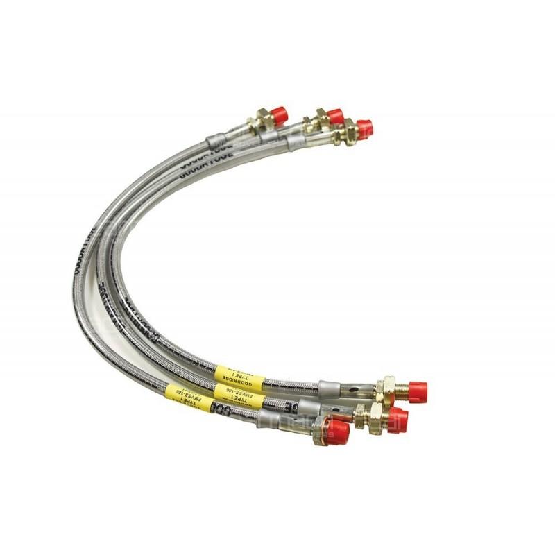 Stainless Braided Brake Hose : Stainless steel braided brake hose kit part ba