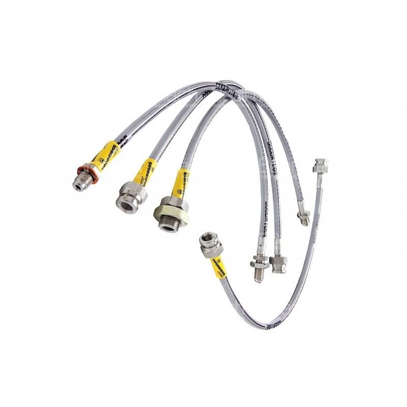 stainless steel braided brake hose kit part ba214