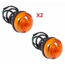 LAND ROVER SERIES 2 2A 3 SET OF 2 INDICATOR LAMP DIRECTIONAL AMBER PART RTC5013